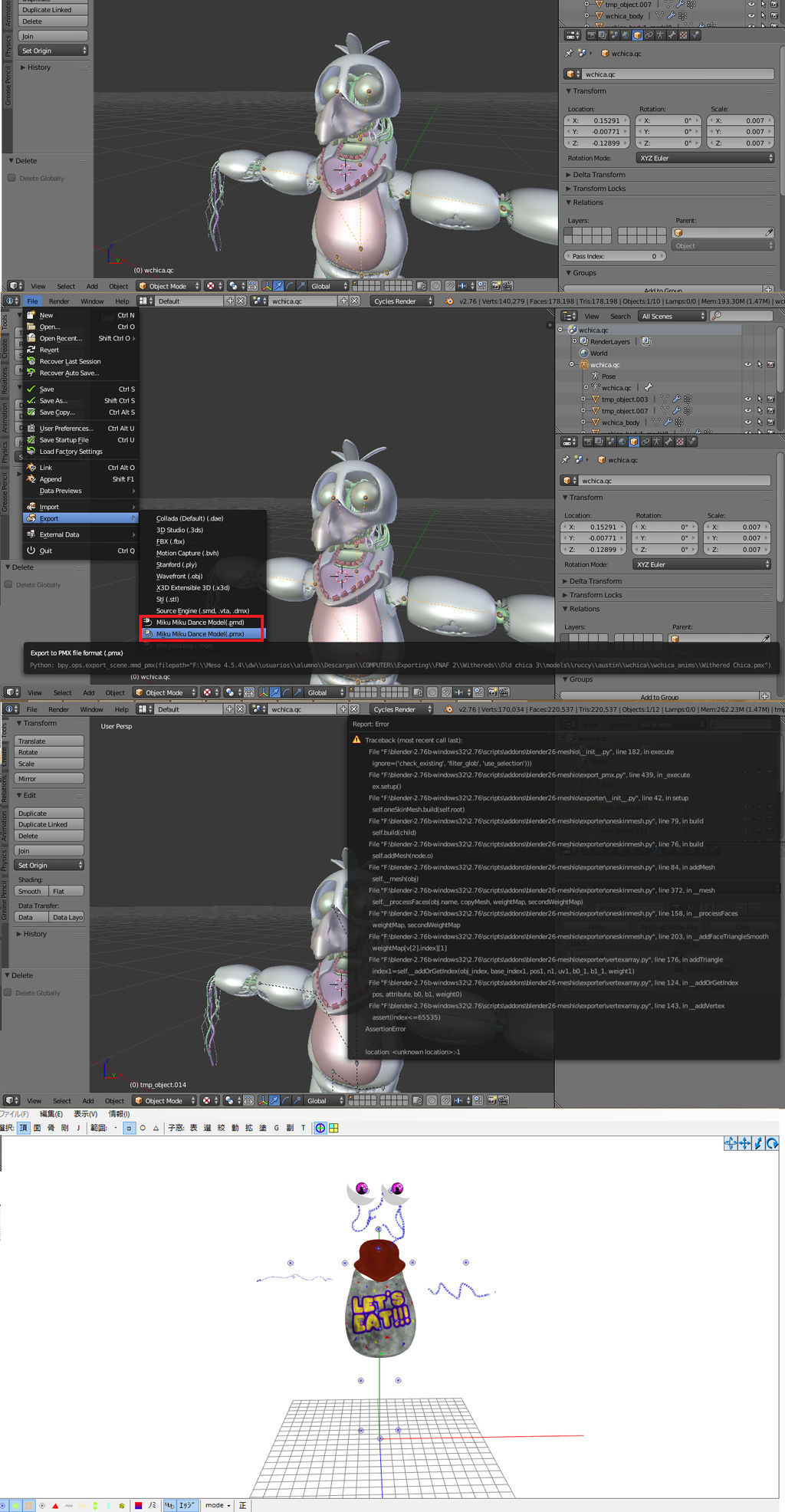Please Helpme Error export blender to pmd read des by