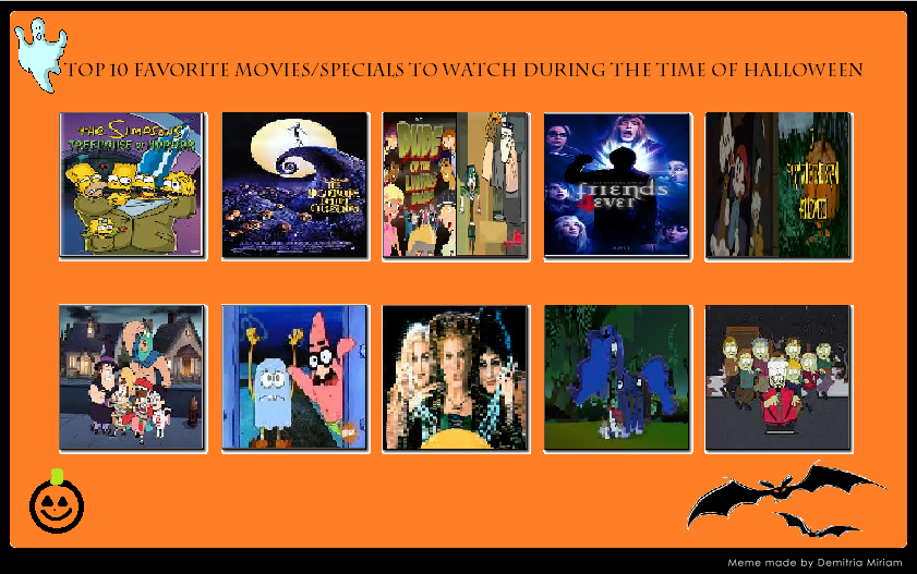 My Top 10 Halloween Speicals and Movies by nikkichic109 on DeviantArt