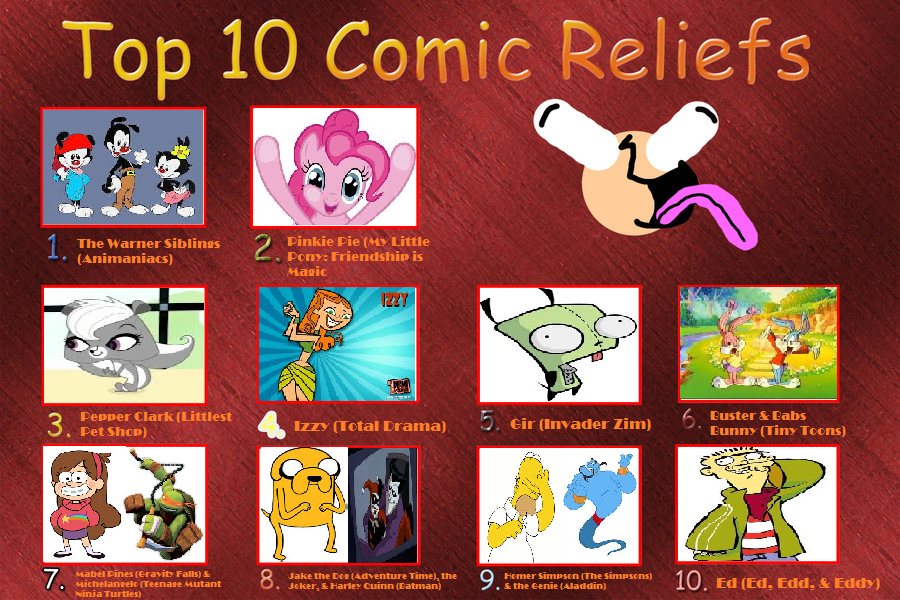 My Top 10 Comic Reliefs by nikkichic109