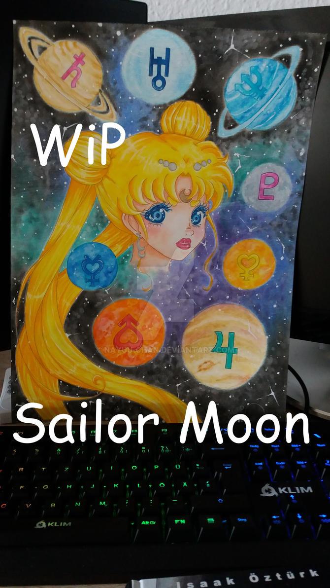 WiP - Sailor Moon Fanart by Nayuu-chan