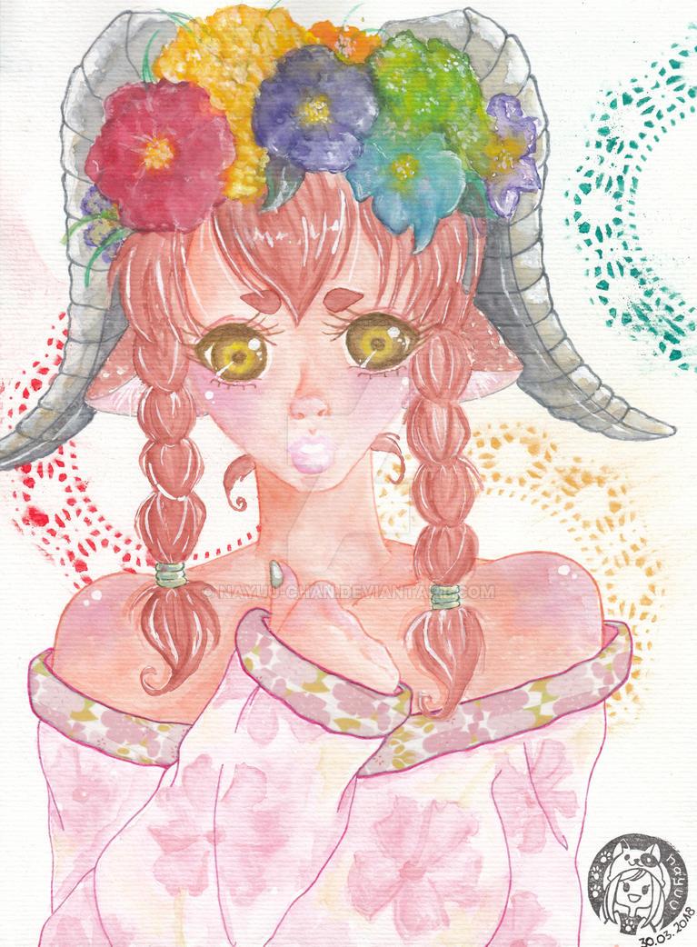 OC Amelie das Ziegenmaedchen by Nayuu-chan