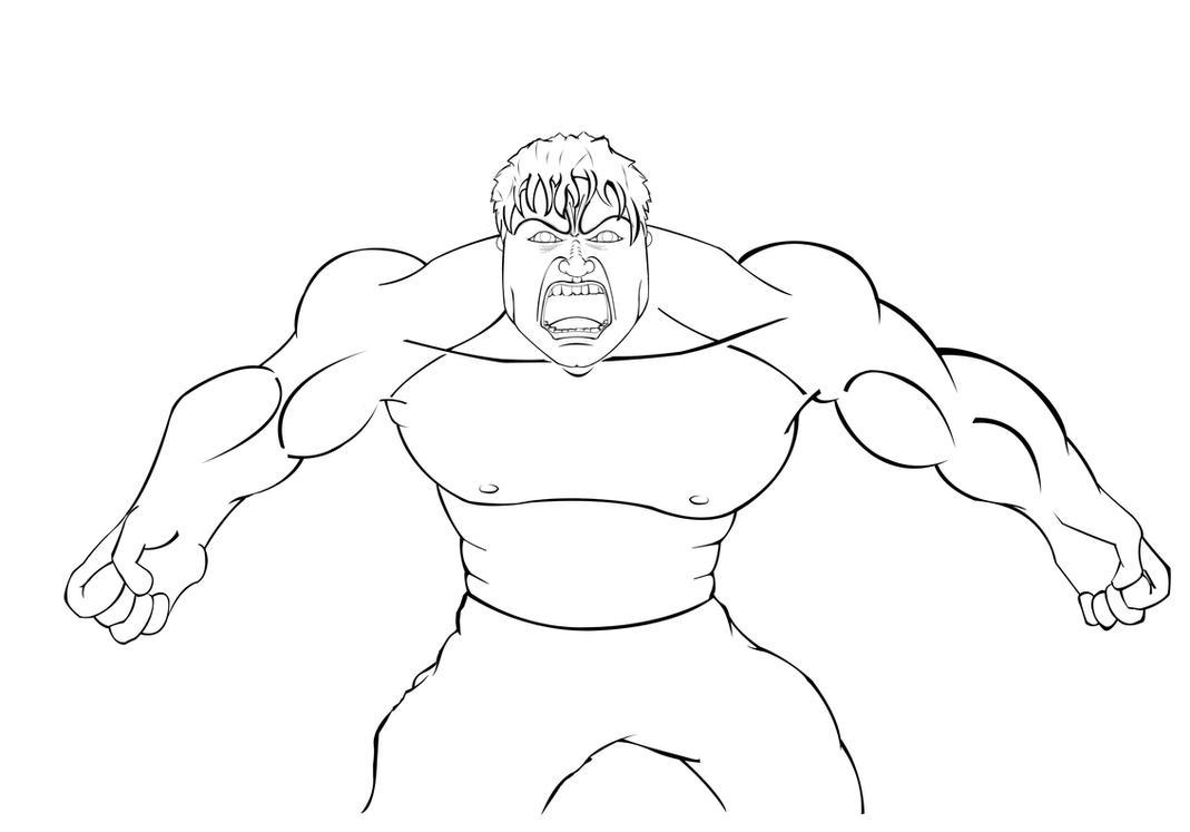 Hulk Face Line Drawing : Hulk outline by allaboutlee on deviantart