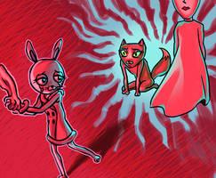 Bunny and Kitty by alganiq
