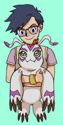 Digimon Adventure: Joe and Gomamon by alganiq