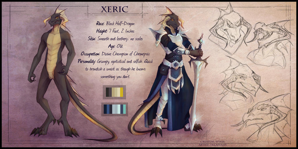Commission - Xeric Ref by KuroReiOokami
