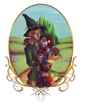 Commission - Scarecrow + Patchwork Dorothy