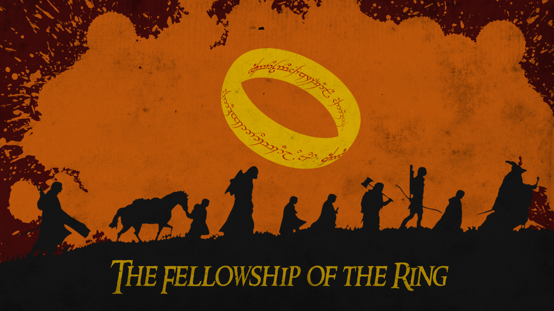 The Fellowship of the Ring | orange, dirty by ChipsEss0r ...