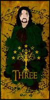 The three Hunters: Aragorn - Minimalist Poster
