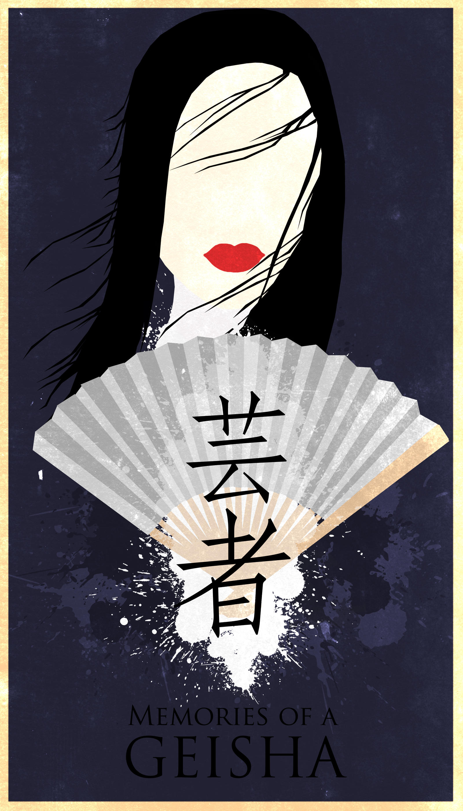 memoirs of a geisha minimalist poster by chipsess0r on