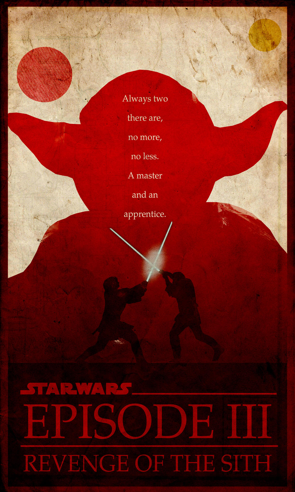 Iii Revenge Of The Sith Minimalist Poster By Chipsess0r On Deviantart