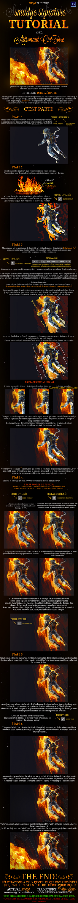 [FRENCH TUTORIAL] Astronaut On Fire by maagg by ZuttoSama