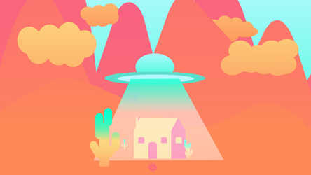 UFO in Nowhere, No Town