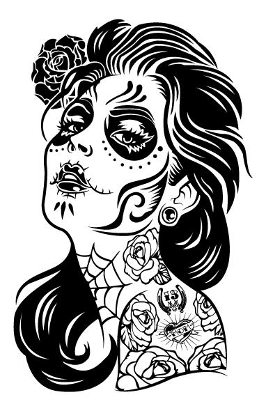 la santa muerte coloring pages - photo #44