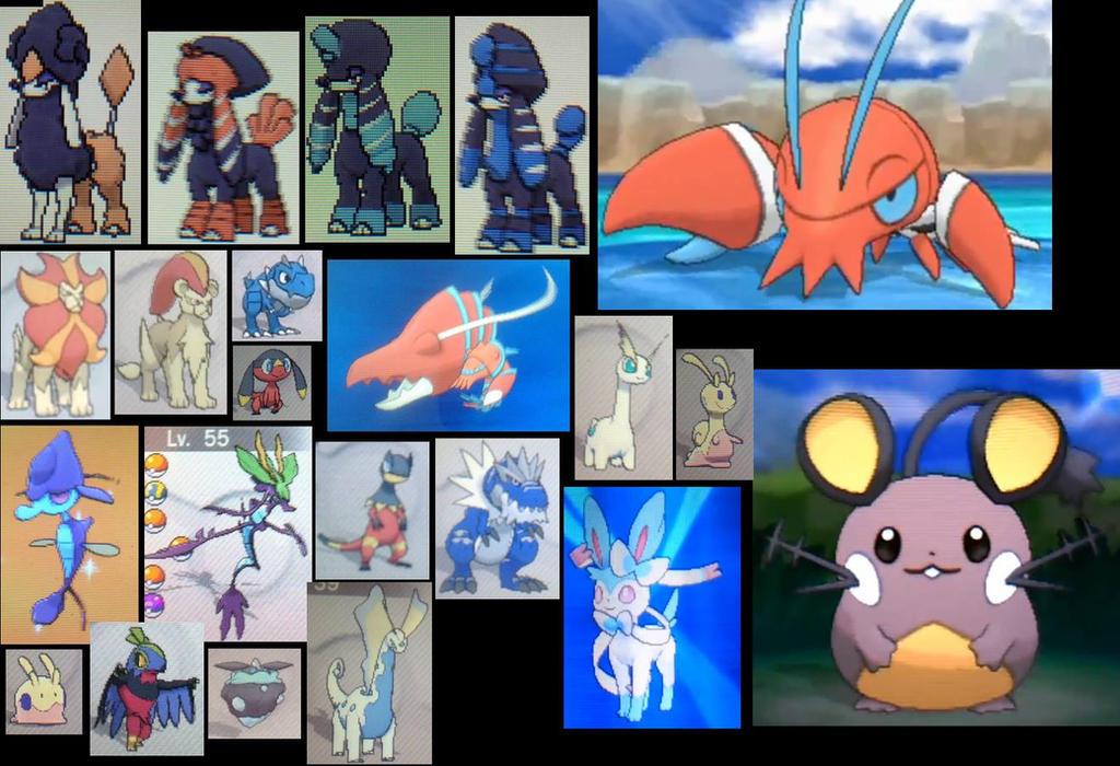 shiny kalos pokemon part 2 by ShadowJae on DeviantArt
