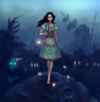 Alice under water by Tammoko