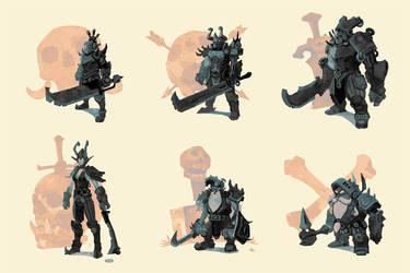 Knights of doom composite by kveye