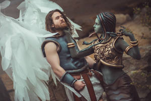 Archangel and Medusa Queen cosplay [from Heroes 3] by TeaLabel