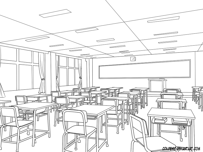 Classroom Design Sketch : Classroom by coldenic on deviantart