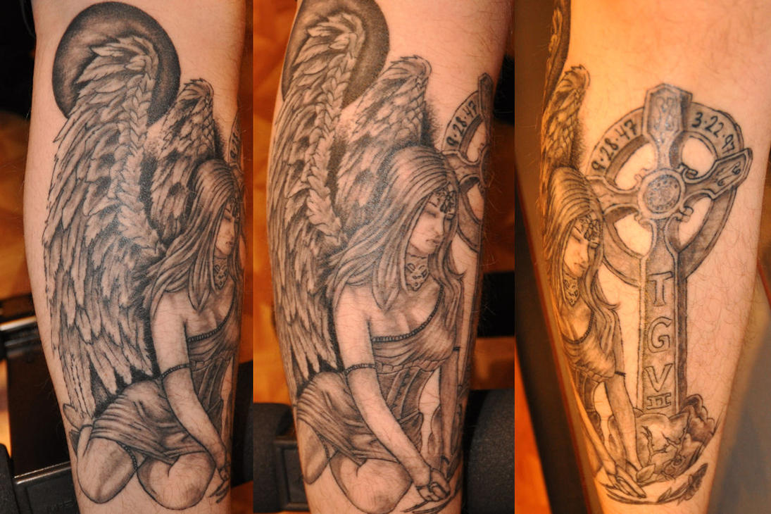 Angel Tombstone Tattoo Designs Images Free Download