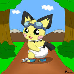 Baby Sparks Pichu by pikachu-91