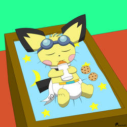 Sparks relaxing by pikachu-91
