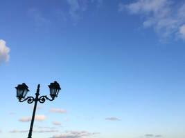 Standing in blue sky