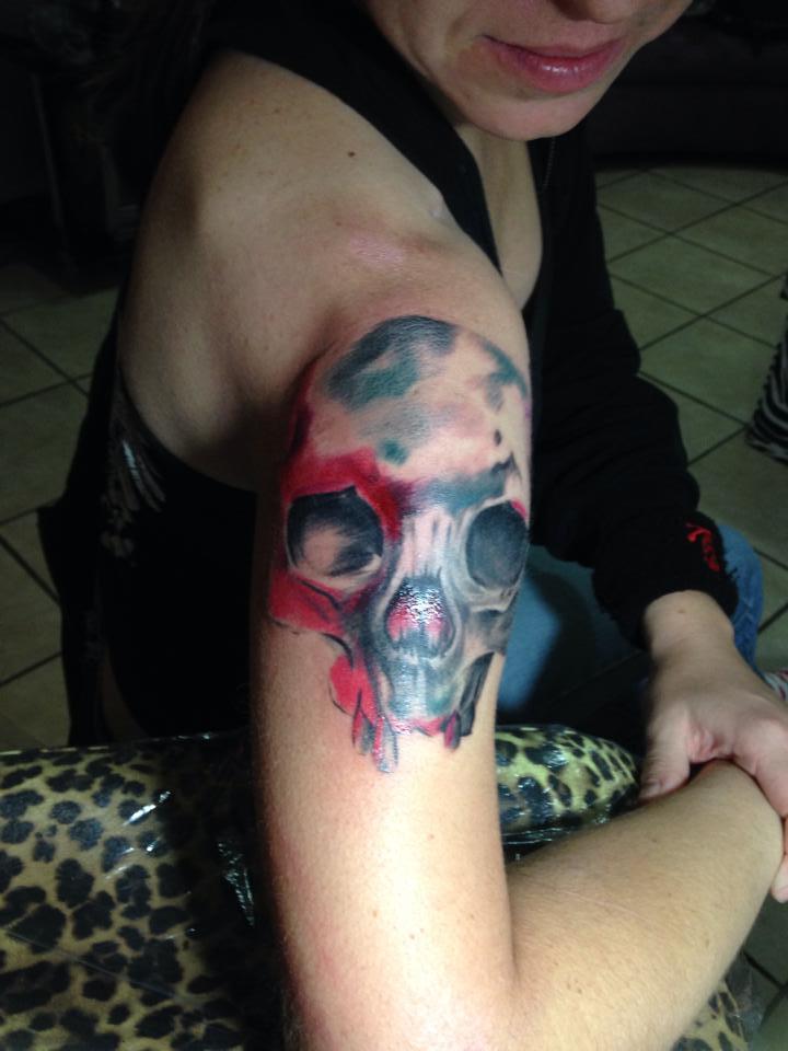 Skull Progress 1 by bubbles79