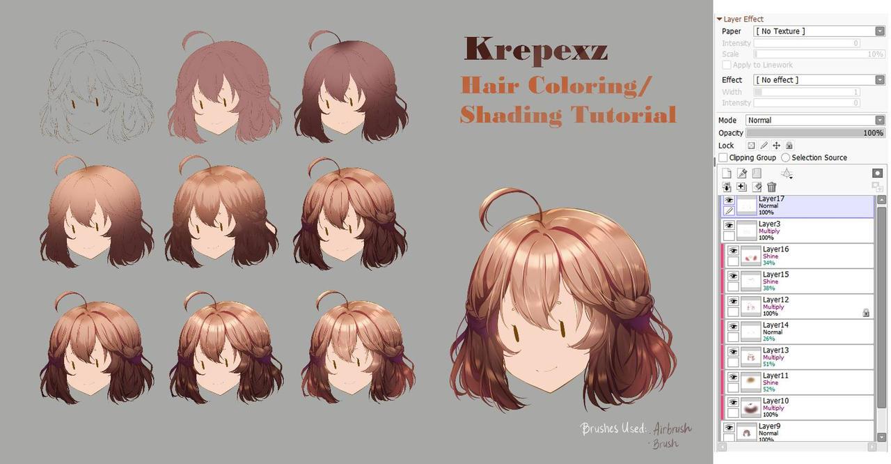 Hair Coloring/Shading Tutorial by kureppuru on DeviantArt