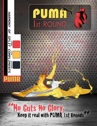 Design PUMA boxing shoe Gold