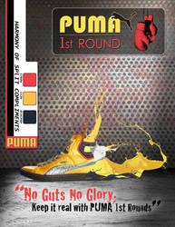 Design PUMA boxing shoe Gold