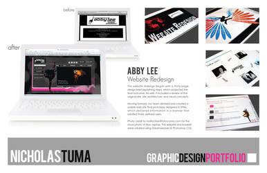 Abby Lee, Website Redesign