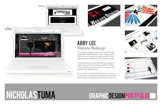 Abby Lee, Website Redesign