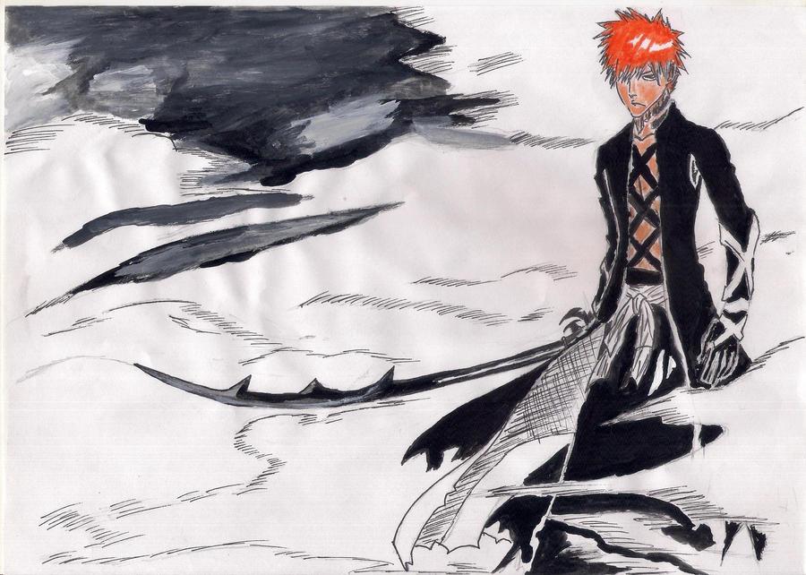 Ichigo New Bankai Drawing