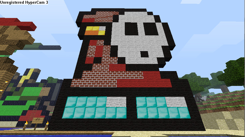 Minecraft Pixel Art Shy Guy By Blackhawkgawd On Deviantart