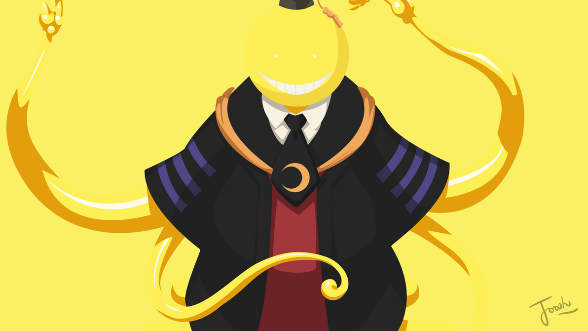 Minimalist Classroom Game ~ Koro sensei bg minimalist design wallpaper by