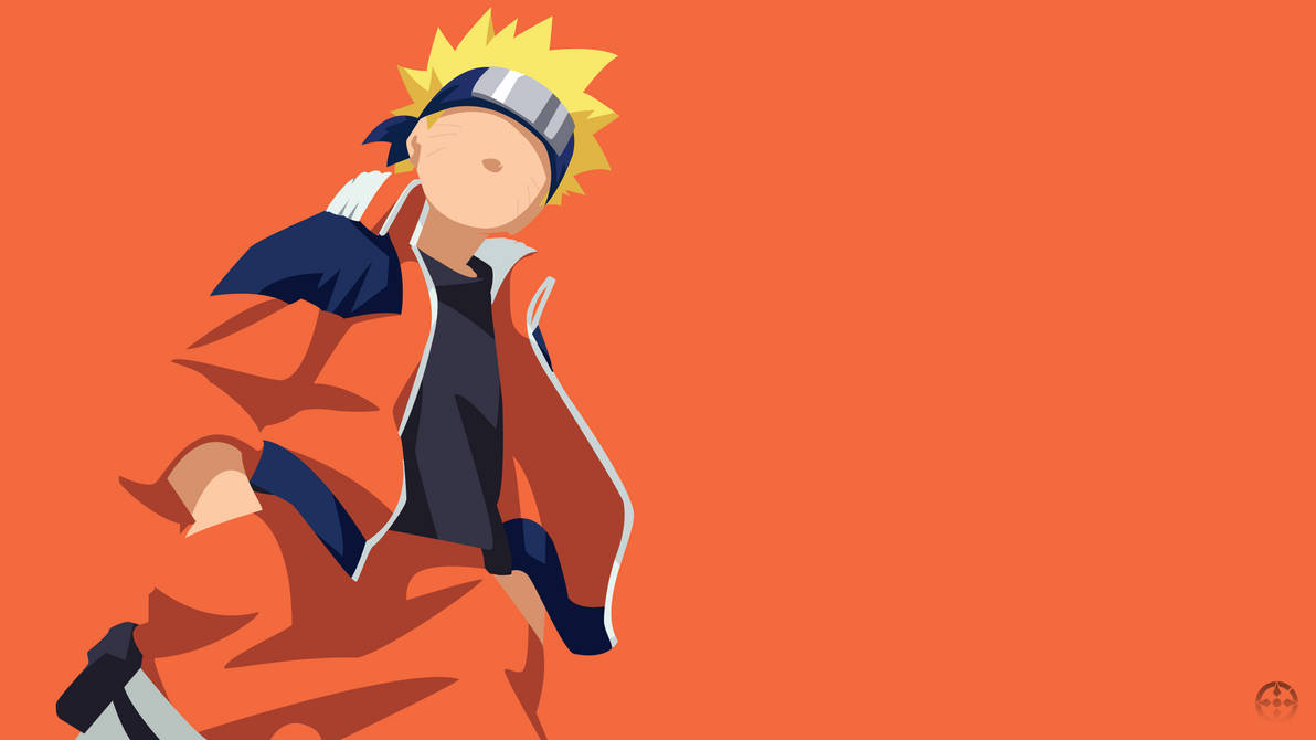 Naruto Uzumaki Kid Minimalist Design Wallpap By Joosherino On Deviantart