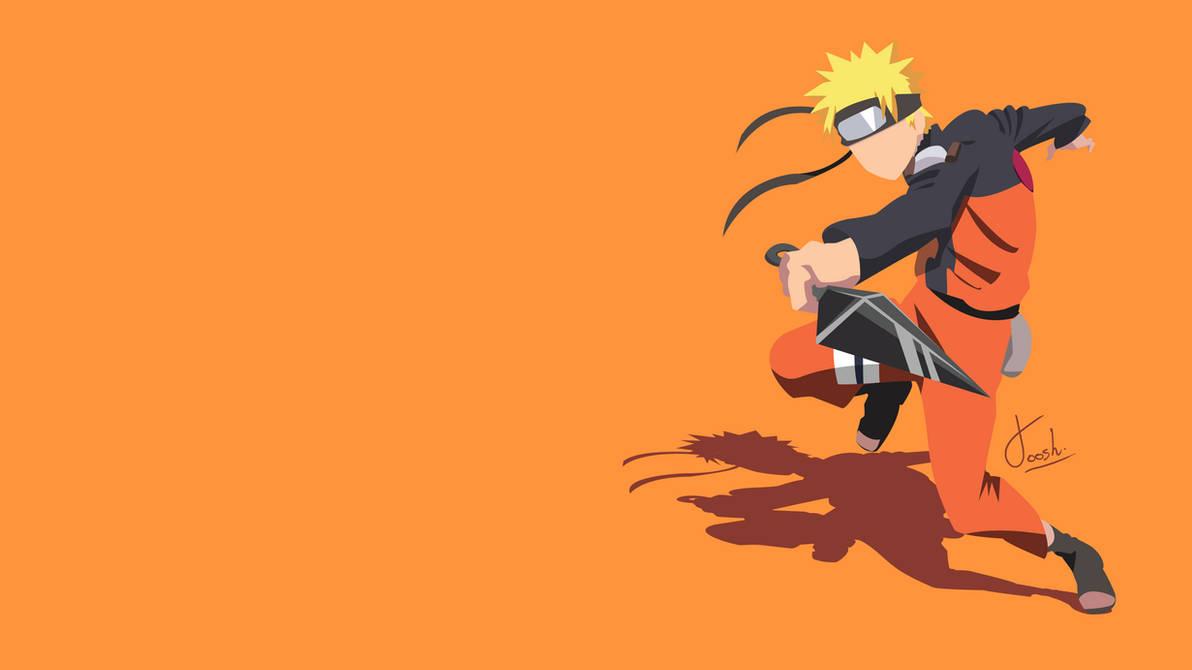 Sasuke Minimalista Fondo: Naruto Uzumaki Minimalist Wallpaper By Joosherino On