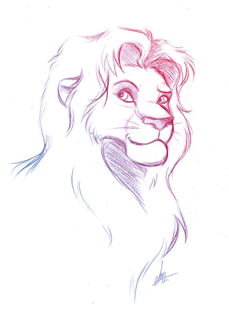 Simba - Sketch By Feena-Freya On DeviantArt