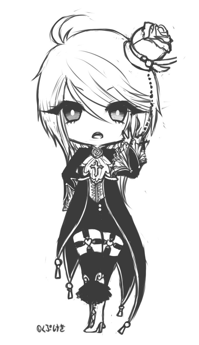 [Fanart] Who are you lookin' at ? Lucius - UTAU by Kupukeki