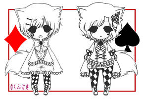 [Adoptables] Asset Boys - Diamond and Spade CLOSED by Kupukeki