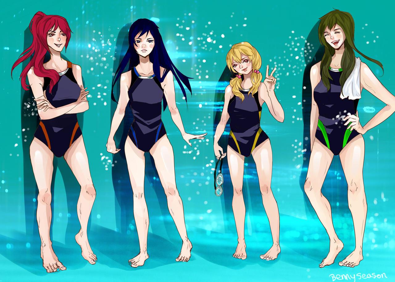 free iwatobi swim club hentai hot girls wallpaper