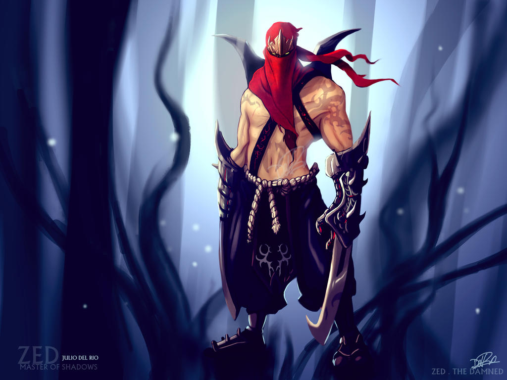 Zed League Of Legends Face Zed - The Damned - League of