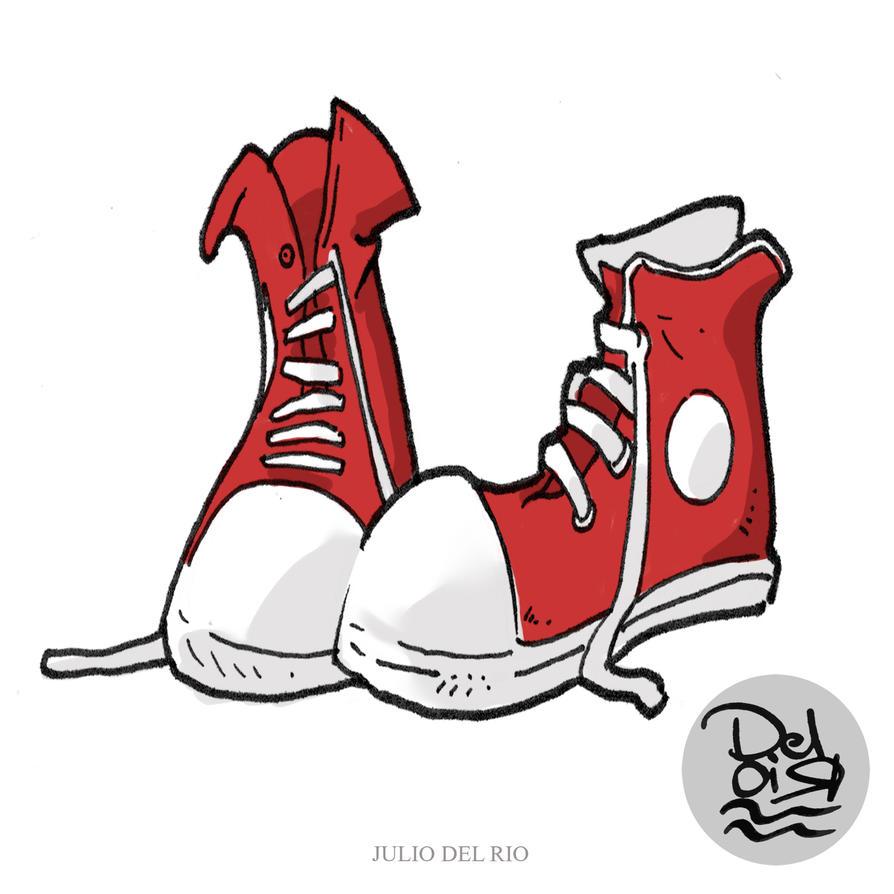 shoes cartoon by juliodelrio on deviantart tennis shoe clip art pattern tennis shoe clip art pattern