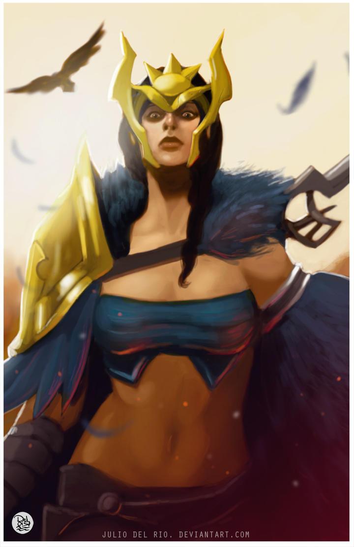 Quinn League of legend Fanart Commission by juliodelrio