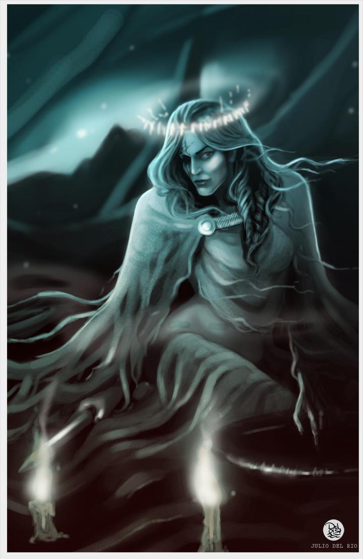 Hel ,  Goddess of the Underworld by juliodelrio