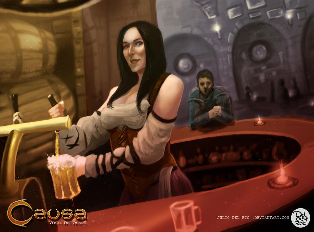 Commission TCG Niebla Games , Tabern by juliodelrio