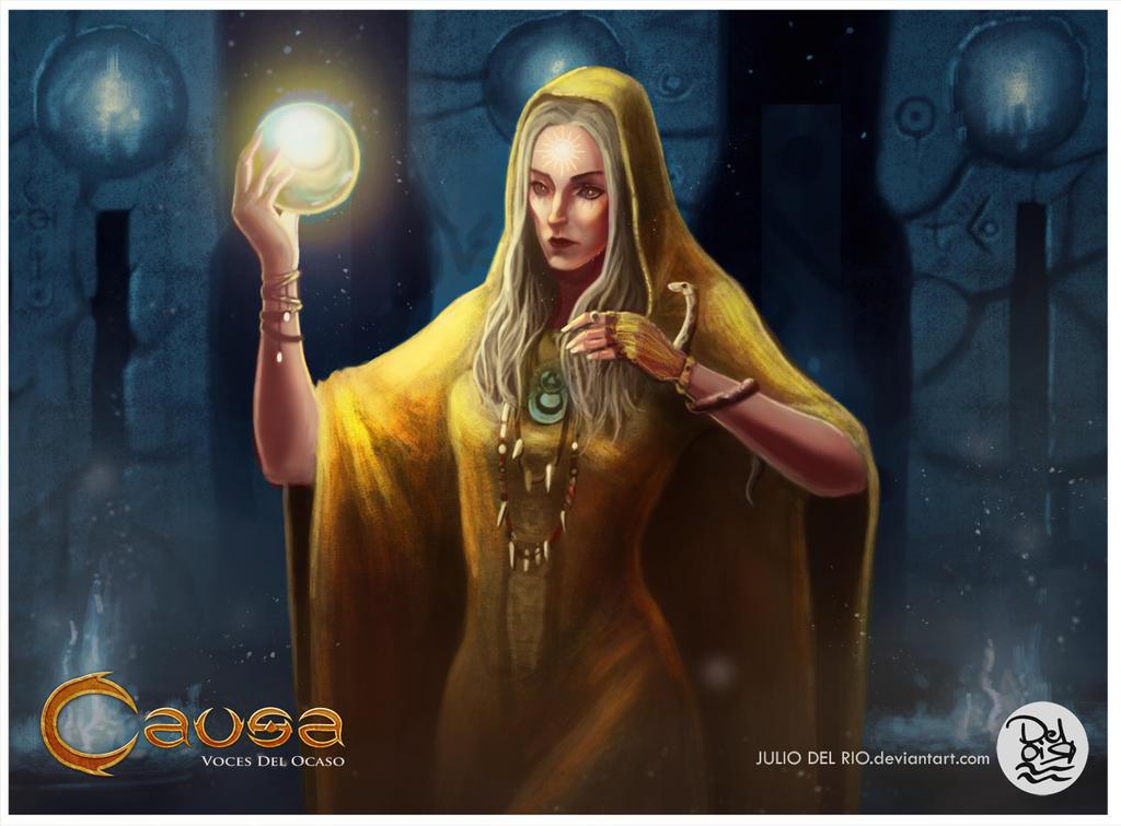 Commission TCG Niebla Games , Portadora de luz by juliodelrio