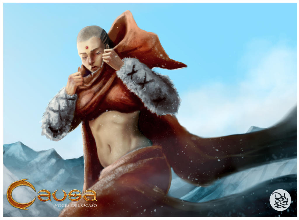 Niebla TCG Causa  _ Commission Monk by juliodelrio