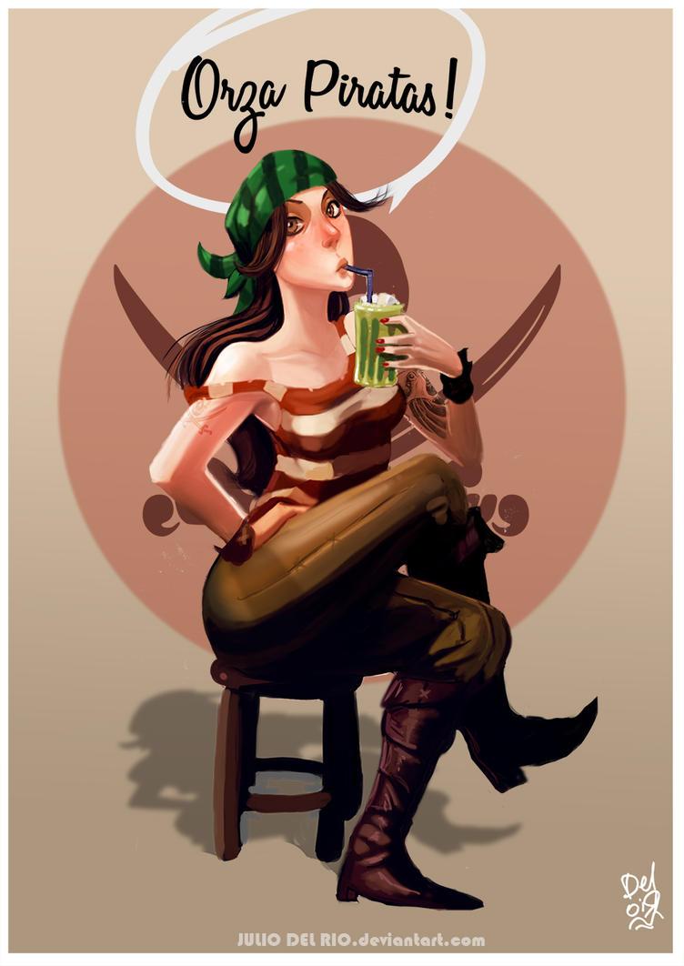 Orza Piratas! by juliodelrio