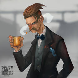 Peaky Blinders  - Arthur Shelby by juliodelrio